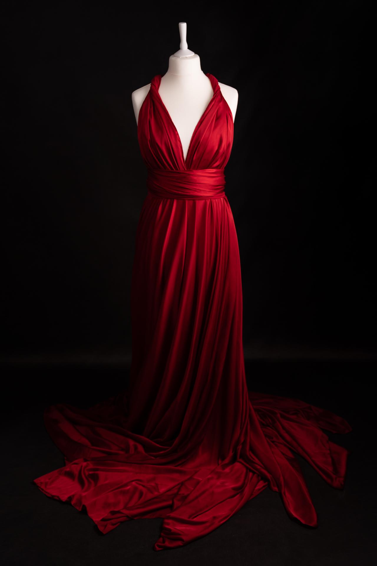 Infinity dress rouge très longue