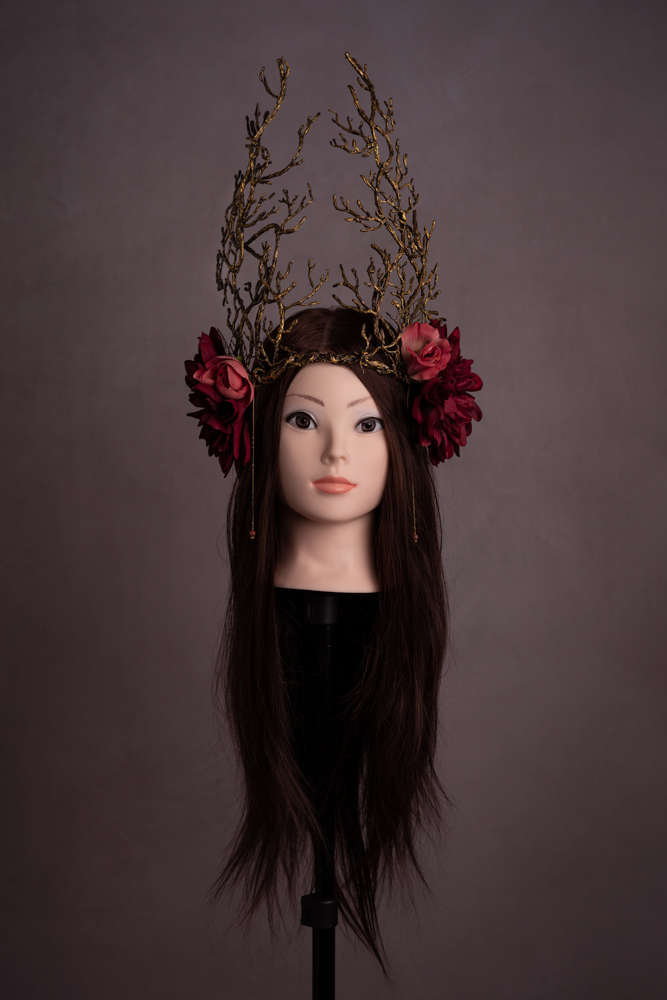 Haute couronne Fleurie